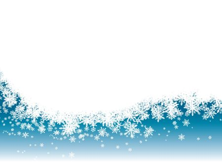 snow drift: Snow flake background in blue with room for adding your own text Stock Photo