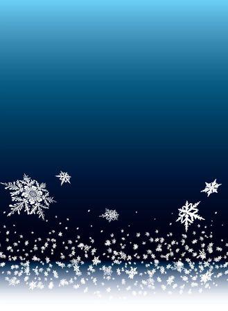 snow falling: natale di fondo con neve caduta da un pesante cielo blu