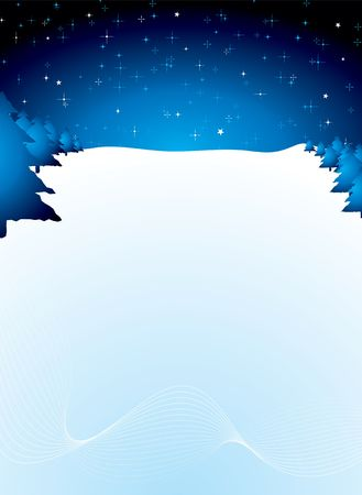 drifts: xmas background scene in blue with copy space and snow drifts Stock Photo