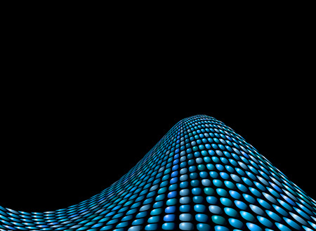 squashed: Abstract wave background with different shades of blue squashed circles