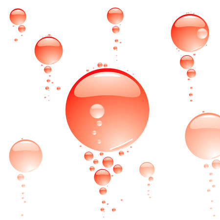 refreshed: red hot bubble background ideal to place text over or just as wallpaper