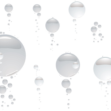 refreshed: Illustrated abstract bubble background in silver and white