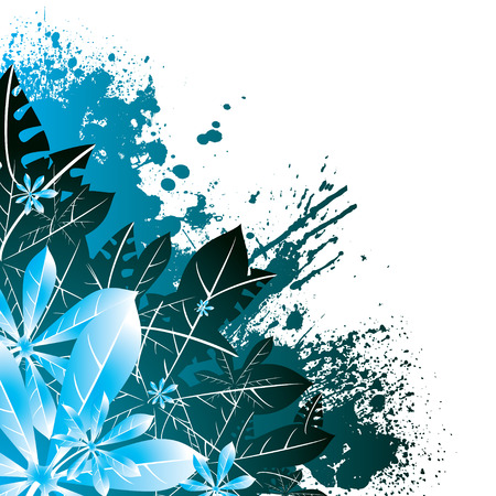 leaf design in green and blue ideal as a abstract background Illustration