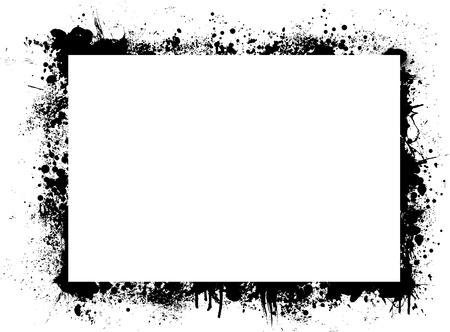 plenty: Abstract ink border with plenty of white copy space
