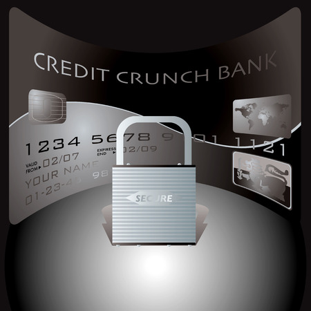 spending: credit card and pasdlock showing the financial dangers of spending