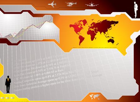 profit and loss: Business concetto di fondo mostrando grafici e mercati azionari risultati Vettoriali