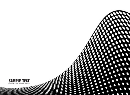 harsh: Abstract illustration showing a halftone wave with room for your own text