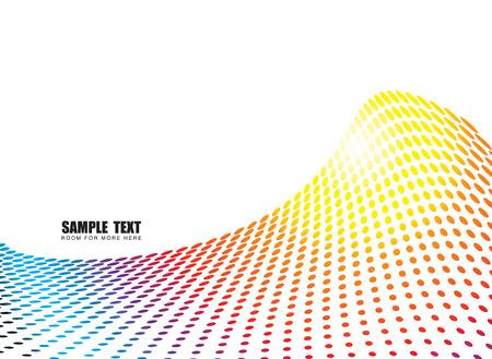 distort: Ilustrado arco iris onda con espacio para agregar su propio texto