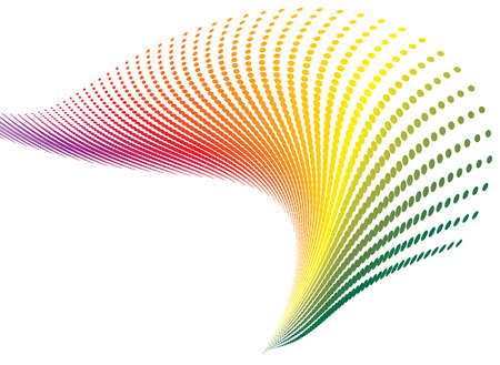 Twisted spiral rainbow that would make an ideal wallpaper or desktop Vector