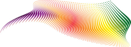 Twisted rainbow illustration that would make an ideal background Vector