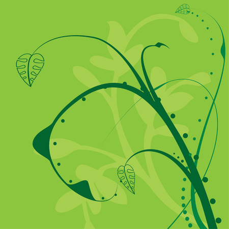 would: Green floral illustration which would make an ideal background Illustration