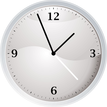 tock illustration: white and silver time piece ideal as a teaching aid