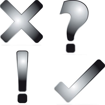 question mark: Schwarz und Silber-Symbol mit einem Schlagschatten