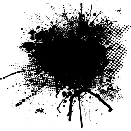 bleed: black and white ink splodge with room for your own text