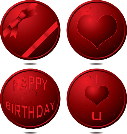 Collection of buttons that could be used for all occasions or birthday Vector