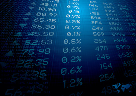 the list plan: stock market figures on a background ideal for reports or finance