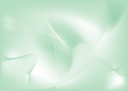 Abstract green and white background with flowing lines Stock Vector - 2590027