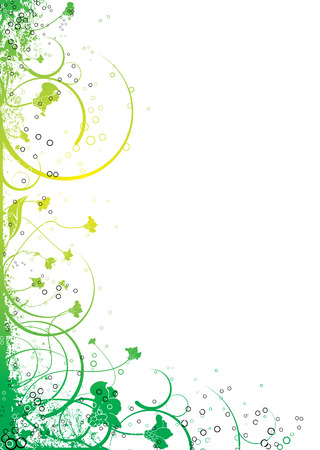 Abstract floral design in yellow and green that will make an ideal border Stock Vector - 2612850
