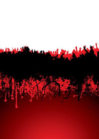 航空ショー: 音楽血ドリブル理想的な背景を持つ群集シーンに影響を与えた