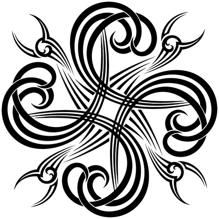 celtic art: modern twist on the traditional  in black and white