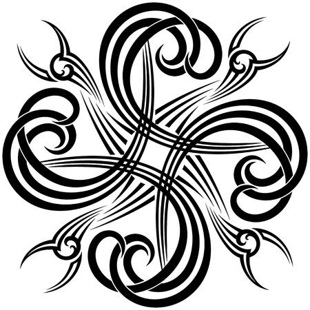 celtico: moderna torsione sul tatuaggio tradizionale in bianco e nero