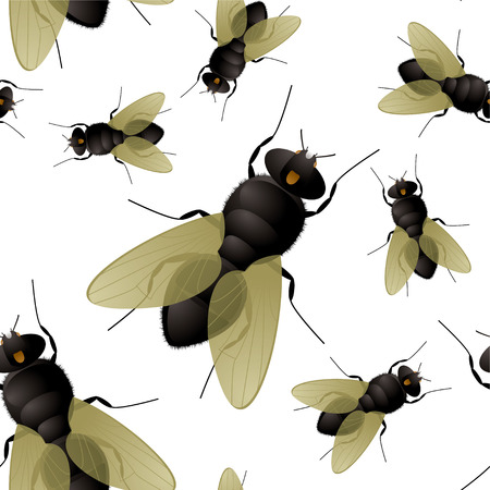 flapping: Seamless fly insect background that repeats without a join