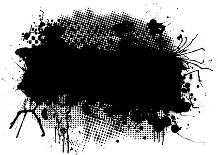 Abstract black and white halftone image with copy space Vector
