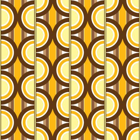 anni settanta: Settanta design ispirato sfondo che senza soluzione di piastrelle