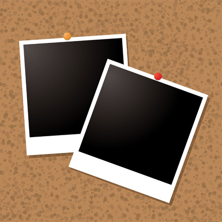 Illustrated old style image pined to a cork board Stock Vector - 2690493