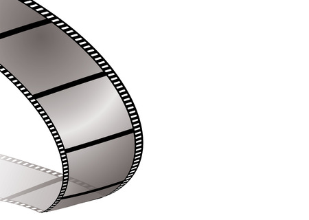 Illustration of a piece of film and its shadow with copy space