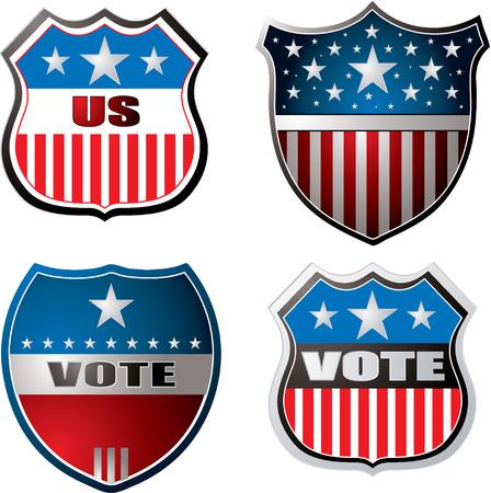 voting: American inspiriert Schilde in rot wei� und blau