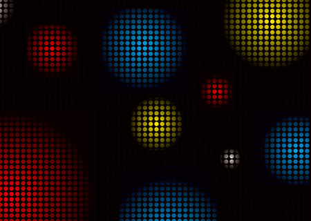 Abstract colourful background with disco ball shape pattern Vector