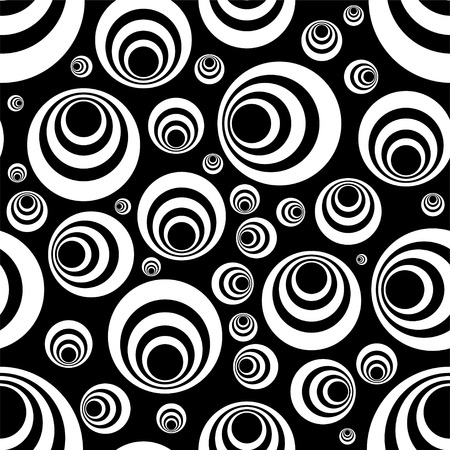 mono color: Seamless repeating tile design in black and white Illustration