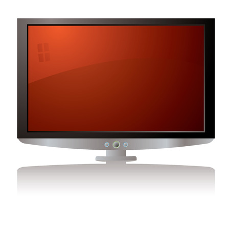 Modern illustration of a lcd tv with a drop shadow Stock Vector - 2752555