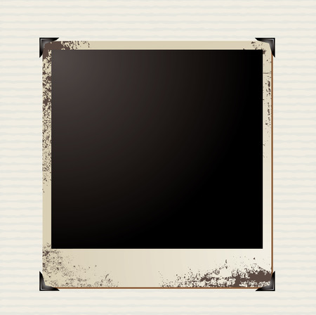 single photo image on a stripy paper background Vector
