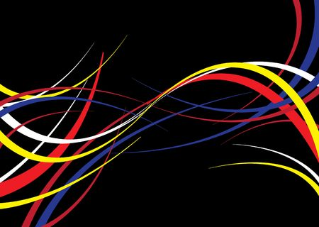 curve line: Abstract background with a flowing ribbon theme on black