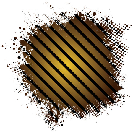 Abstract stripped golden background with half tone dot Vector