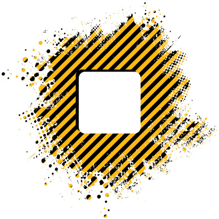 strippad: Abstract stripped yellow background with half tone dots