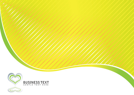 corporative: Abstract business background in green and white with heart logo Illustration