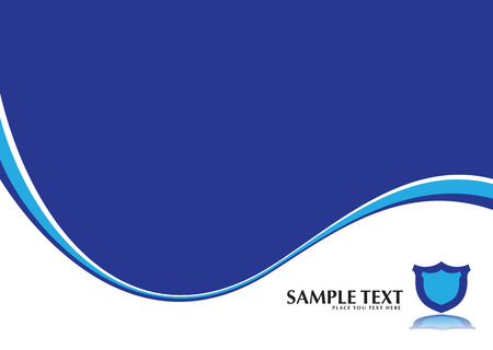 corporate inspired blue and white background with a shield Stock Vector - 3013529