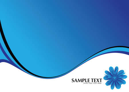 digital wave: resumen de color azul y fondo blanco con un tema floral  Vectores
