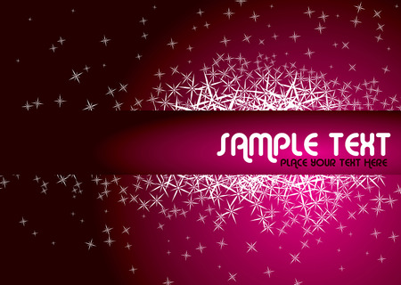 dream like abstract background in magenta with star sparkles Vector