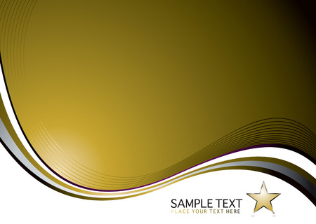 Golden background with a flowing design and space for a logo Stock Vector - 3030494