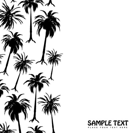 Palm tree border in stark black and white with copy space Stock Vector - 3039751