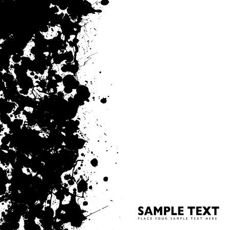 ink splat: s�mbolo de tinta frontera de dise�o con espacio para su propia copia