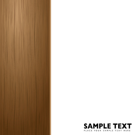 Illustrated wood border with room for your own copy Vector