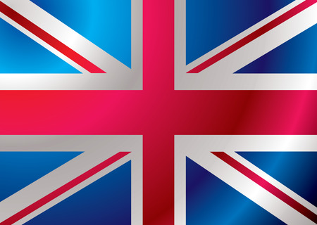 British flag blowing in the wind ideal background Stock Vector - 3058032