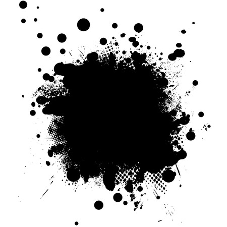 Black and white illustrated background with halftone dot Stock Vector - 3077462