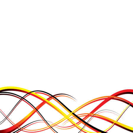 Abstract wave design in red and yellow with copy space