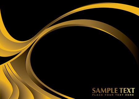 Illustrated abstract golden background with black copy space Stock Vector - 3081065